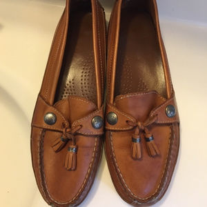 Dexter Leather Tassel Loafers Mocs Size 10M
